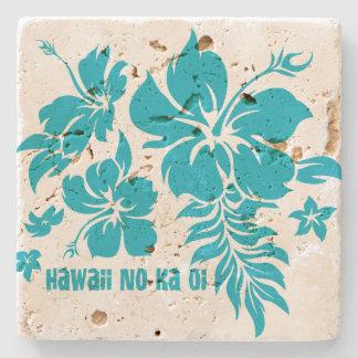 Prácticos de costa florales hawaianos de la barra posavasos de piedra