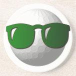 Prácticos de costa frescos de la pelota de golf posavasos diseño