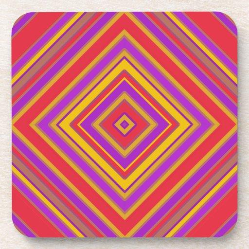 Prácticos de costa geométricos coloridos del diseñ posavasos