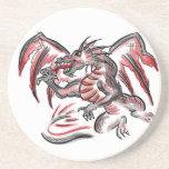 Prácticos de costa grises rojos del dragón posavasos manualidades
