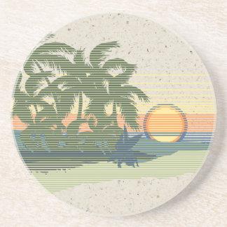 Prácticos de costa hawaianos de la barra de Tiki Posavasos Diseño