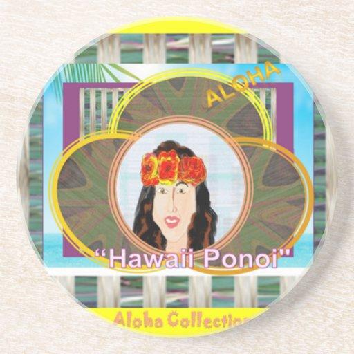 Prácticos de costa hawaianos de Ponoi (redondos) Posavaso Para Bebida