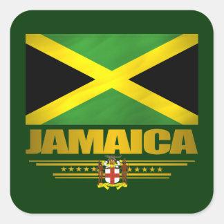 Prácticos de costa jamaicanos de la bebida del calcomanías cuadradas