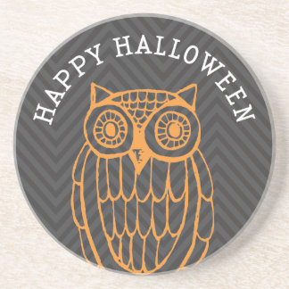 Prácticos de costa lindos de Halloween del búho de Posavasos Diseño