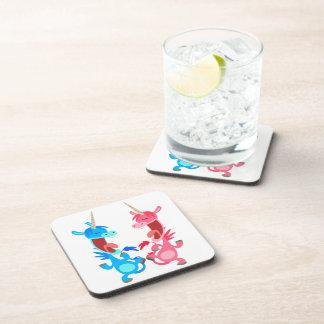 Prácticos de costa lindos de los unicornios del ba posavasos de bebidas