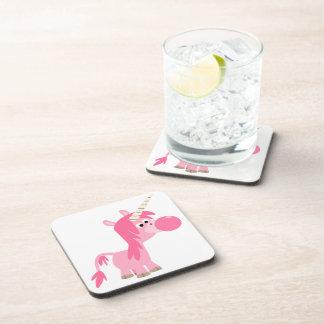 Prácticos de costa lindos del unicornio del chicle posavasos de bebida