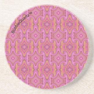 Prácticos de costa modelados rosa posavasos personalizados