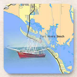 Prácticos de costa náuticos de la Florida del mapa Posavasos De Bebida