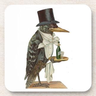 Prácticos de costa negros del camarero del cuervo posavaso
