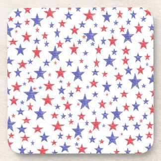 Prácticos de costa patrióticos de las estrellas posavaso