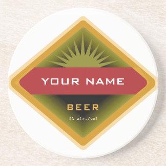 Prácticos de costa personalizados de la cerveza posavaso para bebida