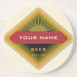 Prácticos de costa personalizados de la cerveza posavasos para bebidas
