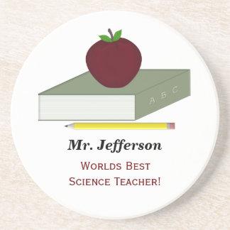 Prácticos de costa personalizados del profesor posavasos personalizados