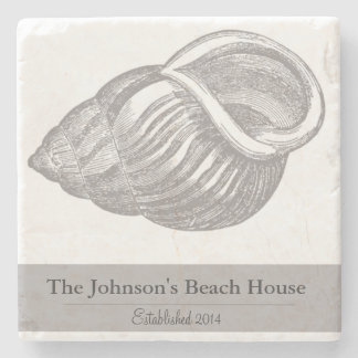 Prácticos de costa personalizados del Seashell de Posavasos De Piedra