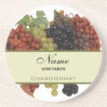 Prácticos de costa personalizados del vino posavasos para bebidas