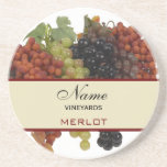 Prácticos de costa personalizados del vino posavaso para bebida