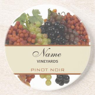 Prácticos de costa personalizados del vino posavasos diseño