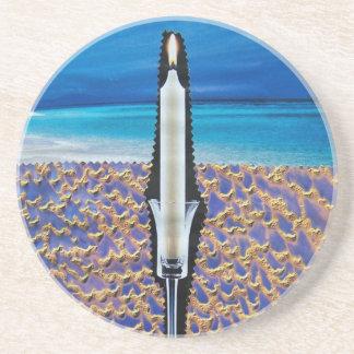 Prácticos de costa piedra arenisca con las ilust posavasos personalizados