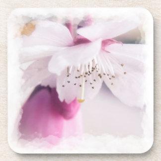 Prácticos de costa plásticos duros del flor posavasos de bebidas