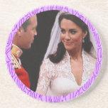 Prácticos de costa reales del boda de Guillermo y  Posavasos Personalizados
