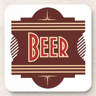 Prácticos de costa retros del logotipo de la cerve posavasos de bebidas