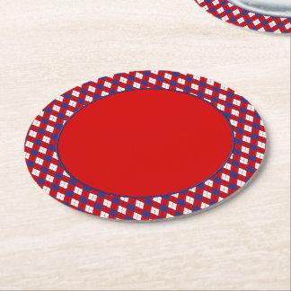 PRÁCTICOS DE COSTA rojos, blancos, azules del Posavasos Desechable Redondo