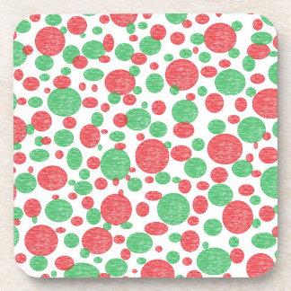 Prácticos de costa rojos y verdes de las burbujas posavasos