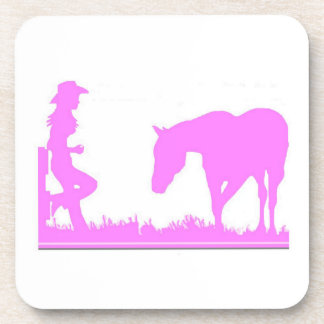 Prácticos de costa rosados de la vaquera posavasos de bebidas