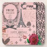 Prácticos de costa rosados del collage de París de Posavasos