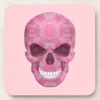 Prácticos de costa rosados del cráneo del posavasos de bebidas