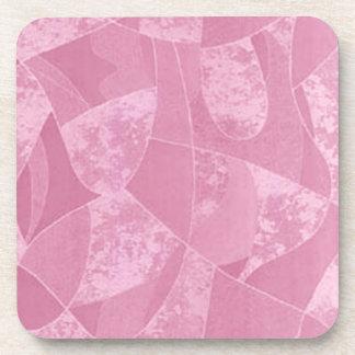 Prácticos de costa rosados del vidrio de la mancha posavasos de bebidas