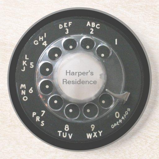 Prácticos de costa rotatorios del dial del teléfon posavasos diseño
