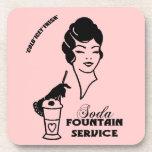 Prácticos de costa - señora retra 1950 de la fuent posavasos de bebidas