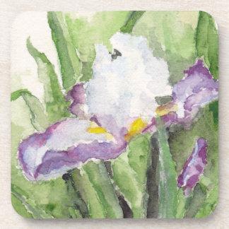 Prácticos de costa suaves del iris de la acuarela posavasos de bebida