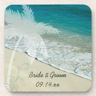 Prácticos de costa tropicales del corcho del boda  posavasos