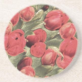 Prácticos de costa, tulipanes rojos, arte decorati posavasos diseño