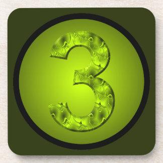 Prácticos de costa verdes del número tres afortuna posavaso