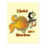 Practiqué surf a Irene mala 2011 Tarjeta Postal
