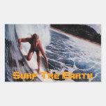 Practique surf el arte de la etiqueta del pegatina