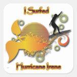 Practiqué surf el huracán Irene Pegatina Cuadradas