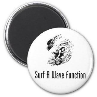 Practique surf una función de onda imán redondo 5 cm