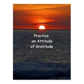 Practique una actitud de la gratitud postales