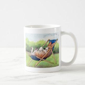 Practising for Summer - Corgi in a Deckchair Classic White Coffee Mug