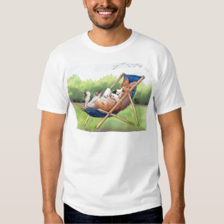 Practising for Summer - Corgi in a Deckchair Tee Shirt