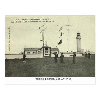 Practising signals, Cap Gris-Nez Postcard