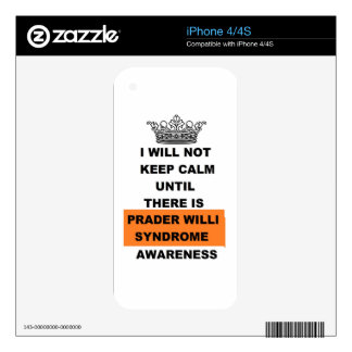Prader Willi Awareness iPhone 4 Decals