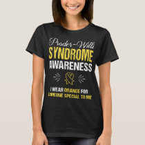 prader willi syndrome awareness cancer T-Shirt