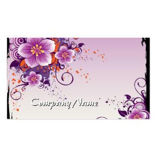 Pradera púrpura de la flor subió tarjetas de visita