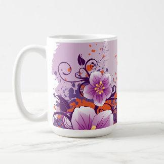 Pradera púrpura de la flor subió taza
