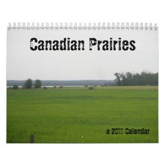 Praderas canadienses calendario de pared